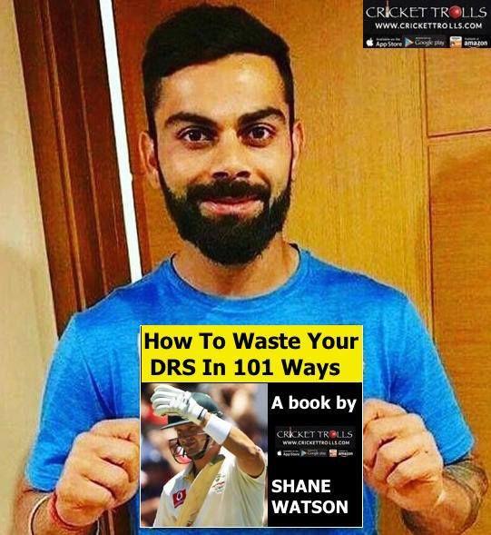 Virat Kohli is currently reading the book on DRS by Shane Watson #INDvAUS For more cricket fun click: http://ift.tt/2gY9BIZ - http://ift.tt/1ZZ3e4d