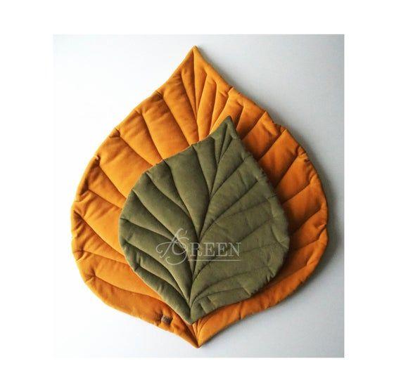 Linen playmat nursery mat baby rug baby mat baby mat baby leaf mat MINI linen rug leaf mat linen mat