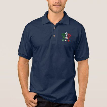 #Vintage Crown Modern Italy Italian Flag Polo Shirt - #giftideas for #kids #babies #children #gifts #giftidea