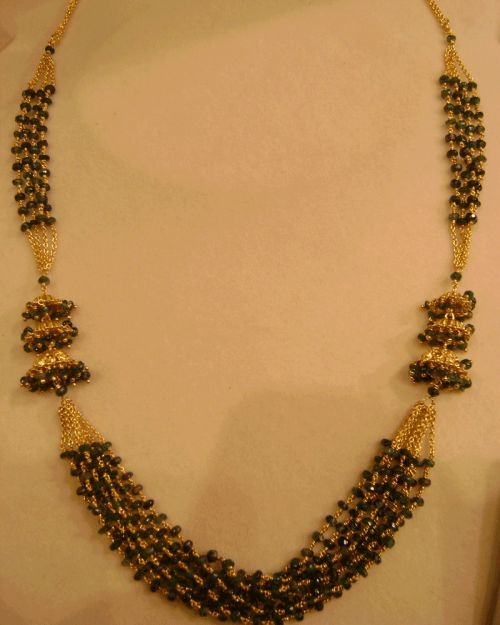 Black beads bunch 8 Lines