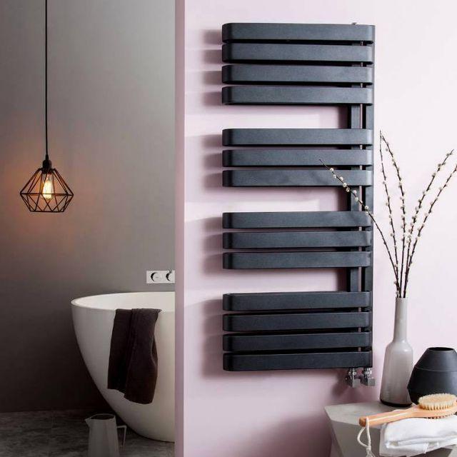 Bauhaus Svelte Towel Warmer #Bathroom #Bauhaus #radiator #bathroomdesign #bathroomideas