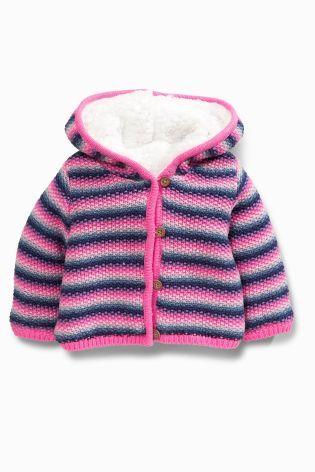 Multi Coloured Stripe Hooded Cardigan (0mths-2yrs)