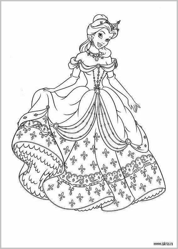 Раскраски для девочек принцессы Диснея 2016 Coloring Disney
