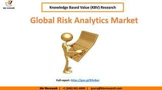 Global #risk #analytics market Growth  According to a new report Global Risk Analytics Market (2017-2023), published by KBV Research, the global Risk Analytics Market is expected to attain a market size of $43 billion by 2023, growing at a CAGR of 17% during the forecast period. Full report:https://kbvresearch.com/global-risk-analytics-market/ Contact us: 244 Fifth Avenue, Suite 1407 New York, N.Y. 10001 United States (U.S) Tel: +1 (646) 661-6066 Email : info@kbvresearch.com Full…