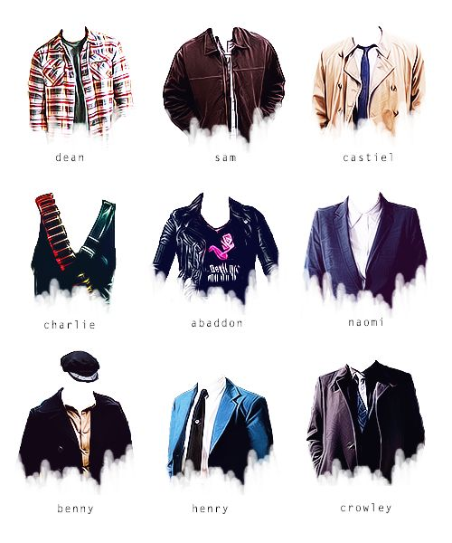 #Supernatural fashion I love how we can tell exactly who's who, just by looking at the clothing.