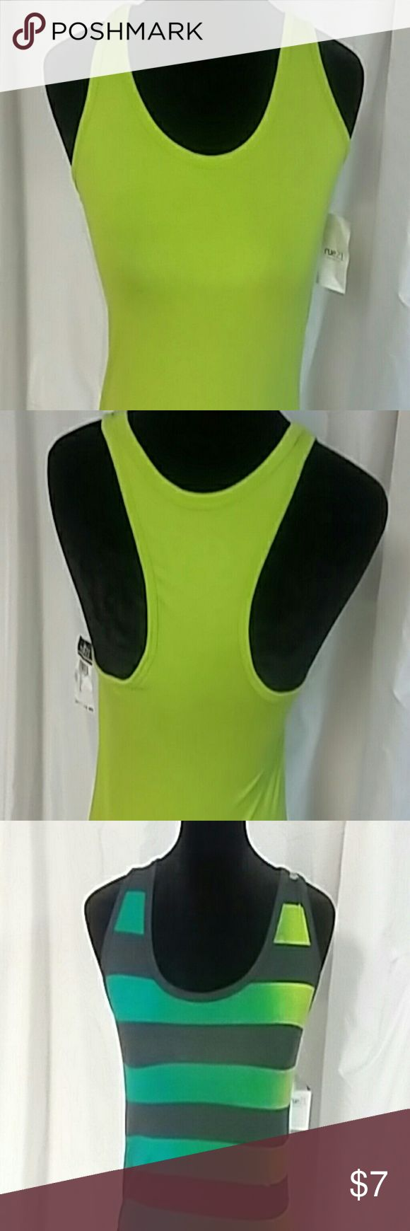 *BUNDLE* of 3 NWT razor back t shirts Lime green  razor back t shirt / navy striped razor back t shirt and gray razor back all 3 NWT Rue 21 Tops Tank Tops
