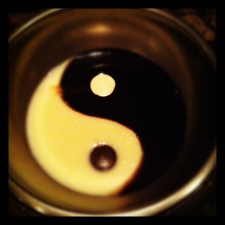Melting Pot Fondue restaurant in West Gate Mall, Rocky River, Ohio. This was the Yin Yang. A sweet combination of white and dark chocolate.
