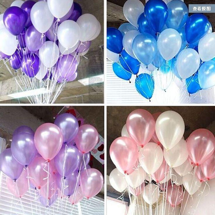 Tanie 100 sztuk 10 ''1.2g Okrągły Kształt Pearl Balony Lateksowe Walentynki Z Okazji Urodzin Wedding Party Udekoruj dekoracje Ballon