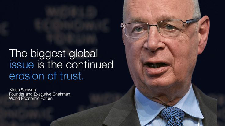 """""""The biggest global issue is the continued erosion of #trust."""" - Klaus Schwab in #Davos at #wef15"""