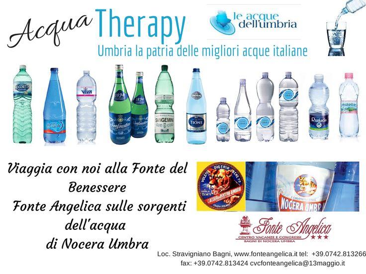Le migliori acque d'Italia sorgono tutte in #Umbria tra cui anche la #FonteAngelica