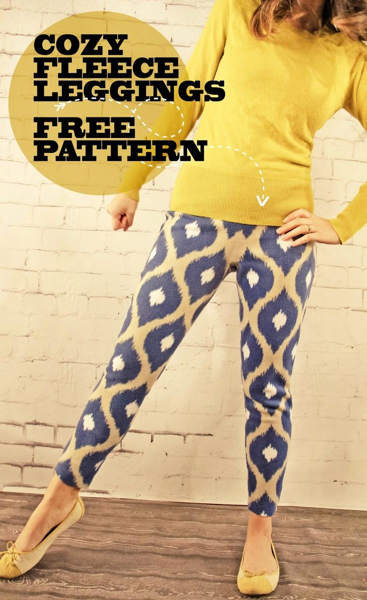 View details for the project Ikat Get Enough Cozy Fleece Leggings on BurdaStyle.