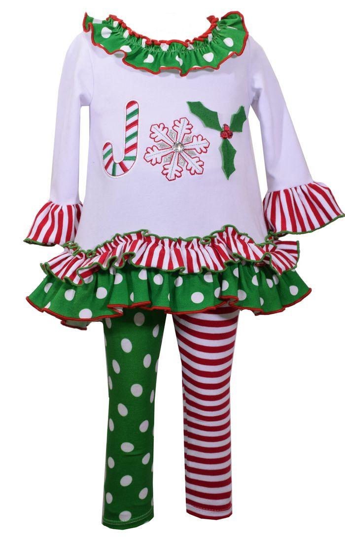 Legging Set aus Baumwolle für die Weihnachtszeit! #BonnieJean, #baby, #mädchenmode, #kindermode, #christmasdress