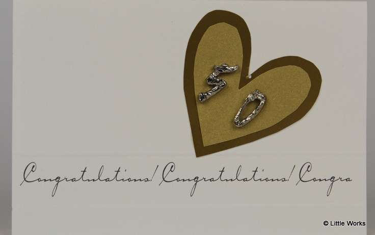 Congratulations - Anniversary cards with silver numbers