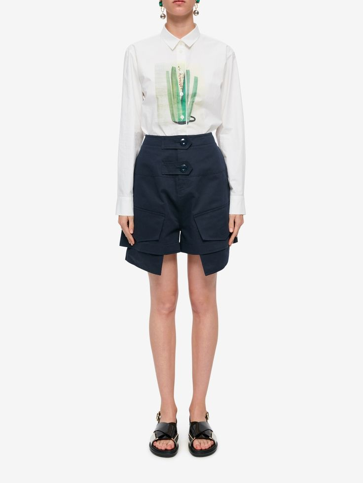 Marni Cotton-Linen Shorts Image 1