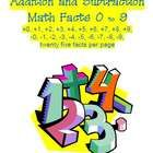 Need addition and/or subtraction math facts?   Tired of searching the web for free ones?  You've found it!  Get them ALL in ONE handy PDF file!  Th...