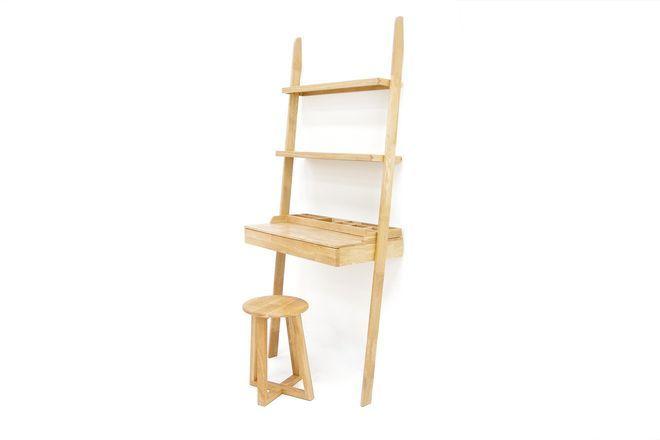 Oak Leaning Ladder Desk