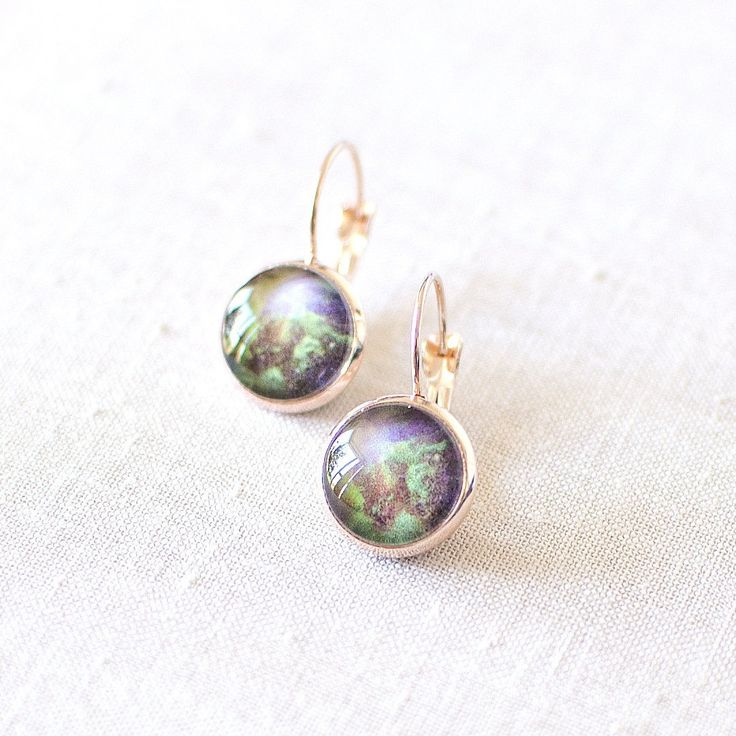 Green Galaxy Earrings | Juju Treasures
