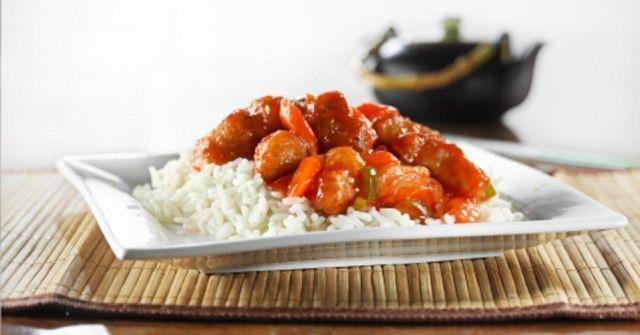 Pollo agridulce el mejor!! en vez de ketchup use salsa de tomate, y agregue una cucharada de azucar negra!