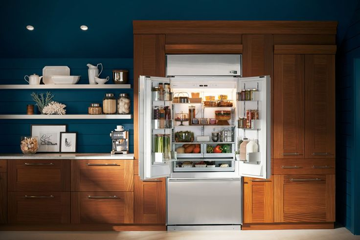 GE Monogram French Door Built-in Refrigerator - lavish treatment for your beloved kitchen and whatever delectable pre-cook stuff you love so dearly