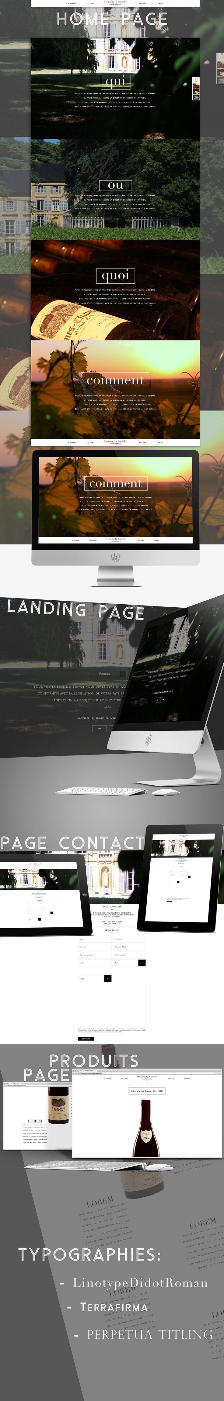 """ Site web wine "" #web #design #responsive #parallax #wine"