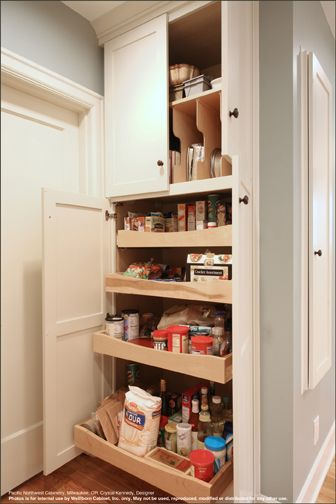 Ideal Kitchen Style And Colors Like Slide Out Drawers For Pantry And Cookware Note In This