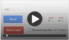 Boomerang for Gmail.  Schedule an email to be sent later.  Easy email reminders. Lets you take control of when you send and receive email messages.