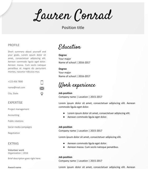 30 Google Docs Resume Templates Downloadable Pdfs Teacher Resume Template Free Teacher Resume Template Downloadable Resume Template