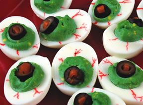 Edible Halloween Crafts - Zombie Eyes Recipe from RecipeTips.com!