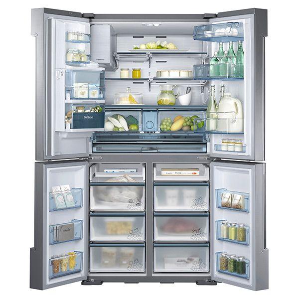 Samsung Ultra-High Capacity 4-Door French Door Chef Collection Refrigerator RF34H9960S4 | Refrigerators