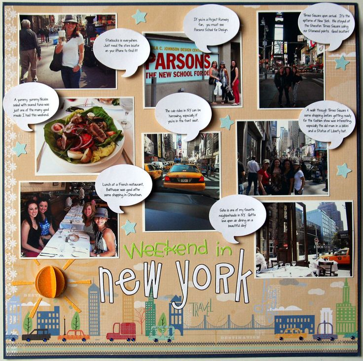 Weekend in New York - Scrapbook.com    Aw I love the bubbles!