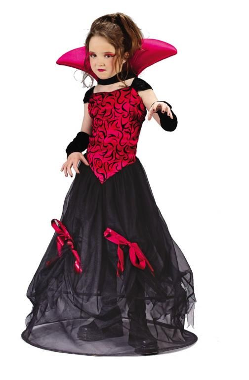 vampire goth bloodstone girl costume her favorite color is red goth bloodstone vampire kids halloween costume includes dress with velvet and satin gothic - Pictures Of Halloween Costumes For Toddlers