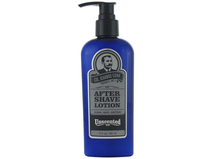 Colonel Conk Unscented Aftershave. Soothe your skin after a shave with an unscented aftershave that won't bother your skin or nose. Available at House of Knives.