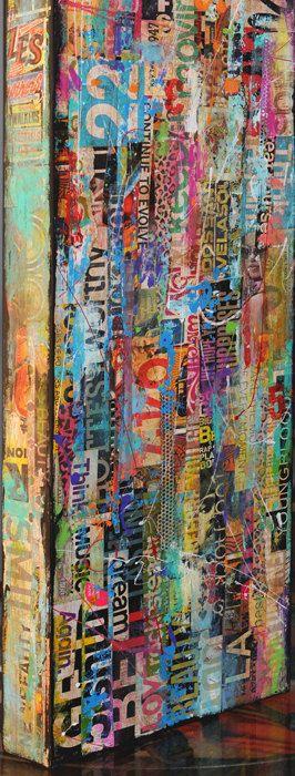 Custom made Painting mixed media on wood by erinashleyart on Etsy