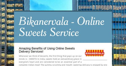 The advantages of online sweets delivery services in India are plethora! Some of them include, no need to walk miles, speedy service, economical price range, etc. Order online today!