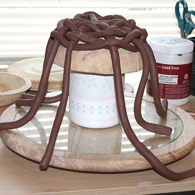 Begin Weaving Coils for Your Pottery Basket