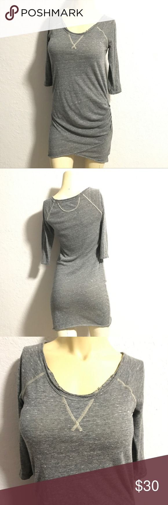 Free People Beach Soft Cotton Dress This size M FP beach dress is soooo much better in person! The side ruching allows you to pull it up shorter for a more relaxed fit. Perfect on its own, or with leggings, this dress will take you into Fall and beyond! Great heathered grey fabric, is washable and packable! Super soft and comfy, perfect everyday dress!! Free People Dresses Mini