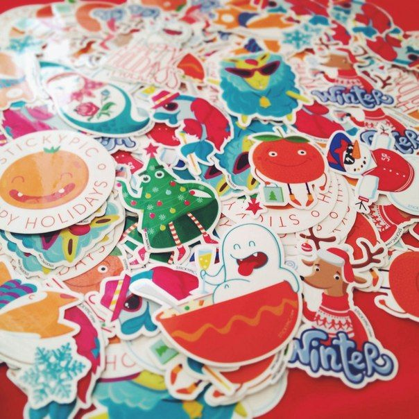 Holidays pack of stickers by Stickypiccrew