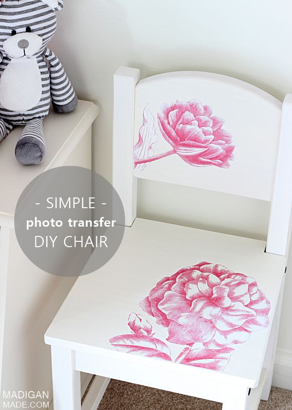 diy / Simple photo transfer project - a DIY kids furniture update