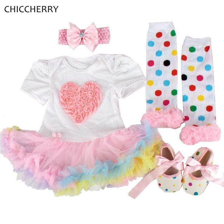 >> Click to Buy << Rose Baby Valentine Outfit Newborn Tutu Set Headband Legwarmer Cribs Shoes Conjunto Infantil Menina Cute Toddler Girl Clothes #Affiliate
