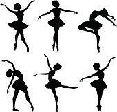 Ballerina siluetas