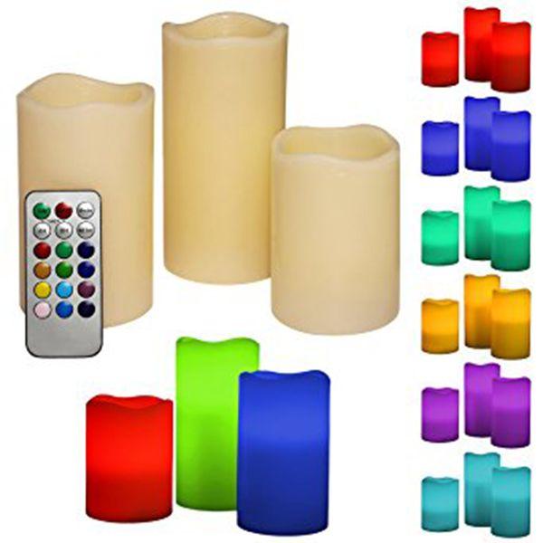 1 Koli 3 Lü Set 12 Farklı Renk Seçeneği Bulunan Kumandalı Zaman Ayarlı 3 Lü Set Led Mum   1 Koli 3 Lü Set Led Mum Kumandalı  1 Koli ( 12 Adet ) Set Gönderilmektedir. ,