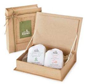 Geschenkdoos met 2 zepen van 110 gr natuurlijke handgemaakte zeep op basis van bio olijfolie