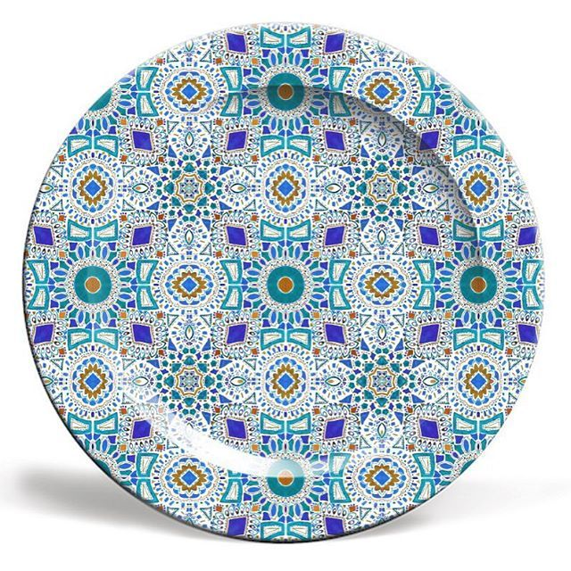 u0027Moroccan Tile Designu0027 ceramic plate by Rachel Edmunds. Shop at artrookie.co  sc 1 st  Pinterest & 12 best Patterns images on Pinterest | Ceramic painting Ceramic ...