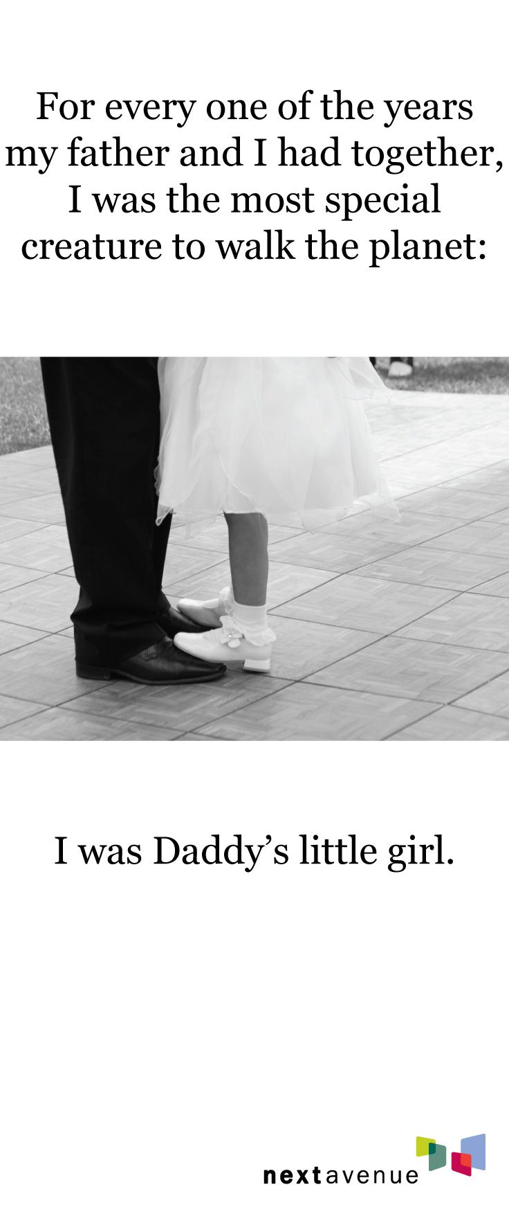 A favorite quote from one of our writers. Father's Day brings out the love in us Daddy's girls.