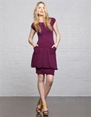 Autumn coloured frock by Mesop; would look great with a pair of Yellow Dahlia earrings by Vintage Betsy.