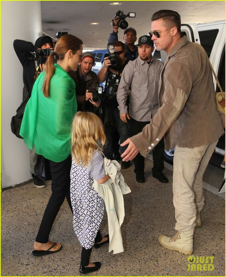 Angelina Jolie and Brad Pitt land at LAX Airport with all six of their adorable kids in Los Angeles