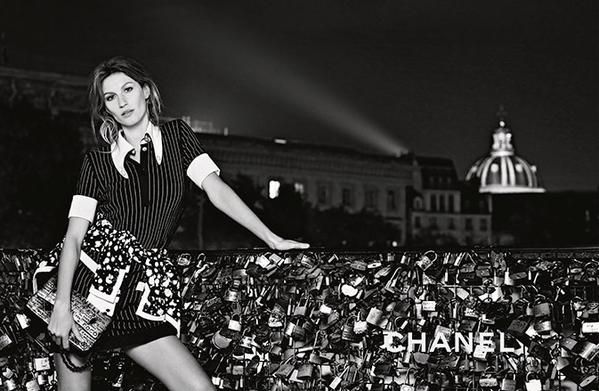 Gisele Bundchen imagen de Chanel SS15 #ChanelParisAfterDark