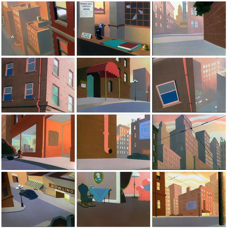 BACKGROUND PAINTINGS BY PAUL JULIAN (1914-1995) More paintings at: https://www.facebook.com/media/set/?set=a.620455004731091.1073741834.357484307694830&type=1 Today we look at the work of background...