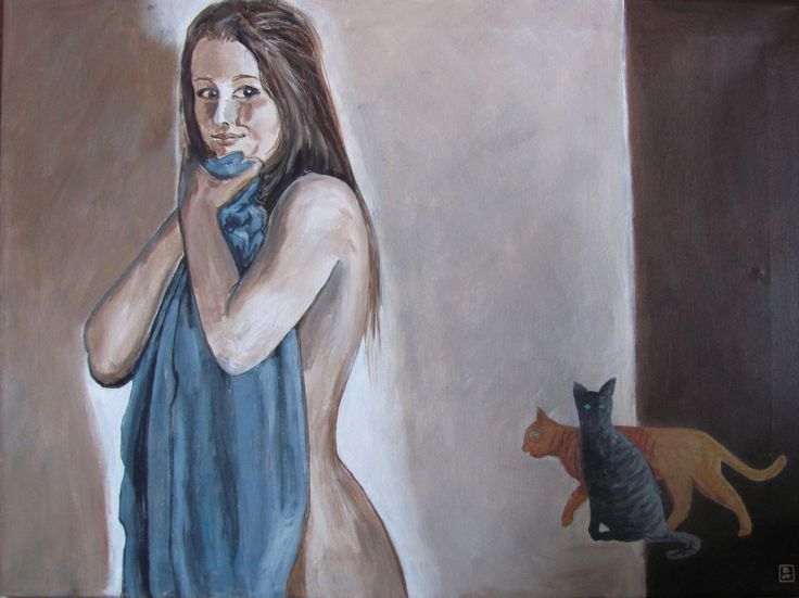 Bjarne Hansen Akryl - Titel: Freja 60 x 80 cm.