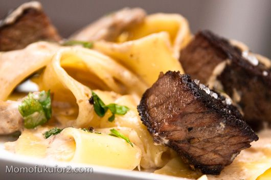 Beef Stroganoff. Thomas Keller is a genius. Thank you kind blogger, for posting all so many recipes from Ad Hoc!